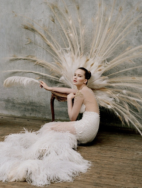 Jennifer Lawrence photographed by Tim Walker for W magazine.
