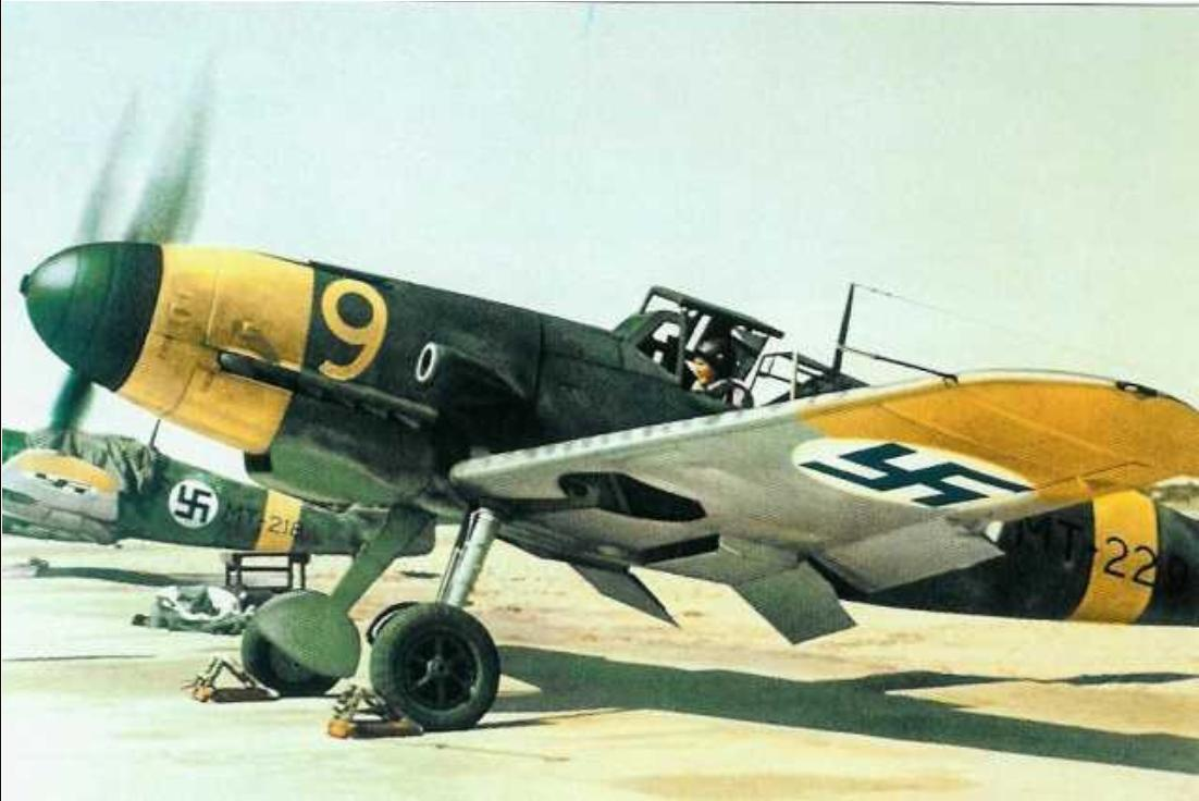 wwiiaviation:  A German Messerschmitt Bf 109 G-2 fighter serving with the Finnish Air Force at Helsinki, Finland in June 1943.