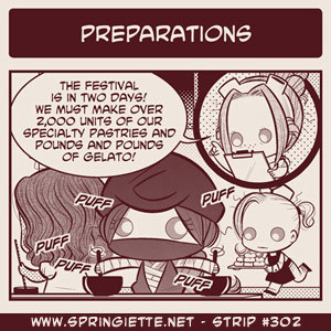 "Strip #302 ""Preparations"" is up! http://www.springiette.net/strips/preparations"