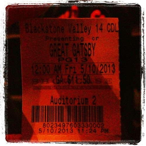 Finally!!! Waited long enough! #gatsby