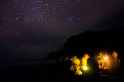 A night on this beach under this night sky was the reason we endured eight hours of hell in the jungle. February 2,2013|Somewhere in Aurora