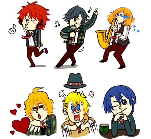 princessofmilktea:  (x) Uta no Prince-sama characters as LINE stickers. They're transparent too! ;D
