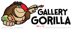 Gorilla Artist Cartoon Logo - Gallery Gorilla on Flickr.