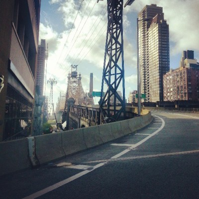 eternalsoulshine:  This morning pre-event climbing the bridge #5borobiketour #nyc #queensborobridge