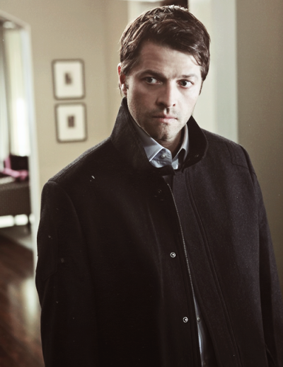 That moment Cas shows up in Jack Harkness' clothing…