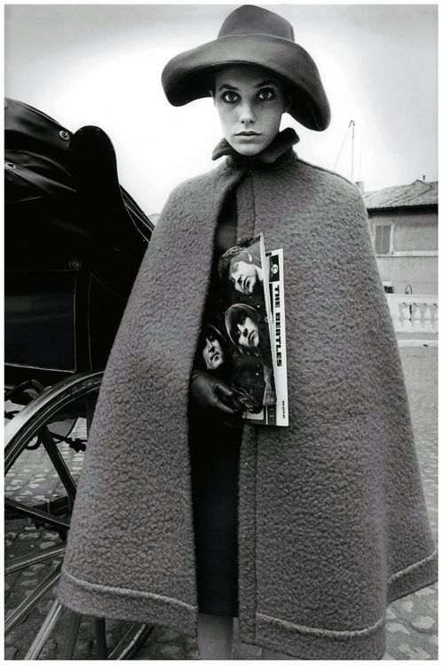 The Cape Here's Jane Birkin in her cape circa 1966. Wasn't she awesome? If you want to emulate her style, there are a few capes on eBay from YSL and Phillip Lim. There's also a sweet vintage find, as well as a red plaid one from Hot Hollywood. (Photo: Source, suicideblonde. Text by Jauretsi)