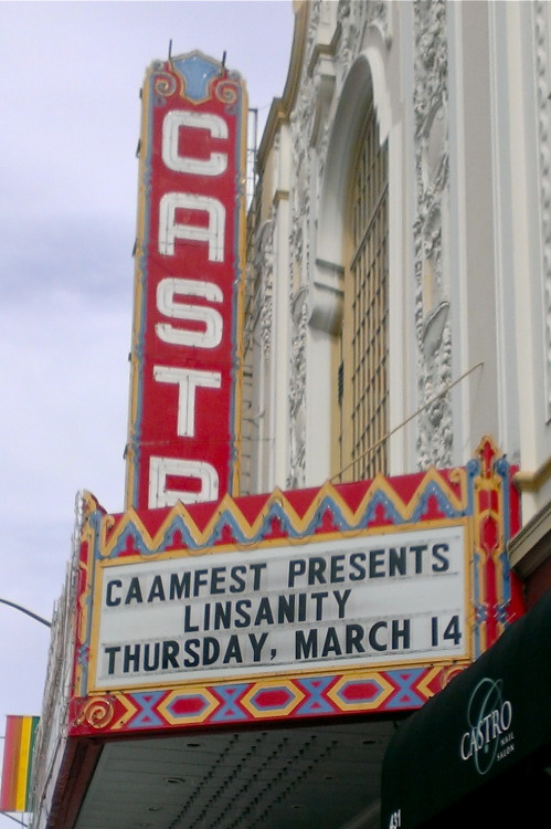 caamedia:  CAAMFest 2013 officially kicks off today! Castro Theatre is about to get LINSANE…see you TONIGHT!  And if you can't see it at CAAMFest, see it in Austin at SXSW on Saturday!