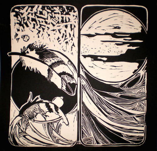lino print i did a long time ago.