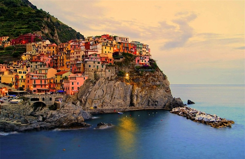 | ♕ |  Manarola afterglow - Cinque Terre  | by © Jennifer Barrow