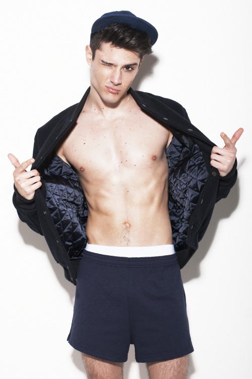 breezyashell:  Model: Diego Barrueco Photographer: Conor Clinch Stylist: Stephen Moloney Hair: Matthew Feeney Grooming: Sarah Lanagan Illustrations: Fatti Burke  All clothes from American Apparel.