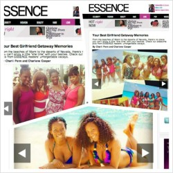 Check out me and my besties on @essencemag online for their girlfriend getaways gallery…#fakemodels #friends #blackgirlswhorock rofl