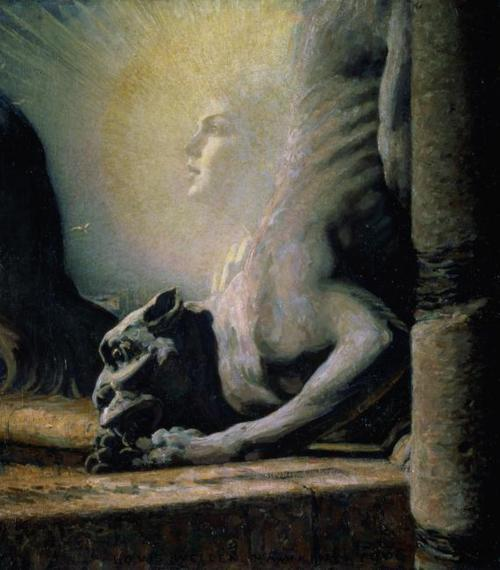 magrittee:  Louis Welden Hawkins - The Sphinx and the Chimera