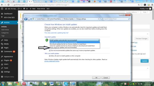 Hướng dẫn tắt Update Windown