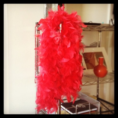 Who's running the #BrooklynHalf? My red feather boa and I will be cheering you on at the top of Grand Army Plaza between miles 1-2! (at Park Slope, Brooklyn)