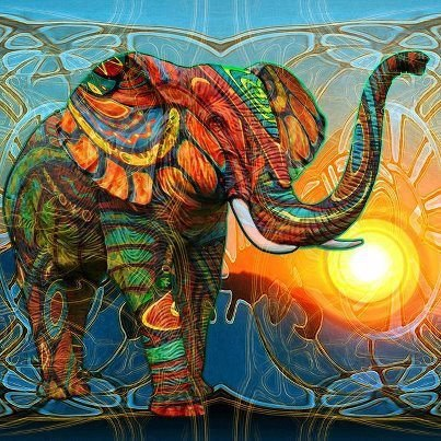 refriedhippie:  Elephant Art