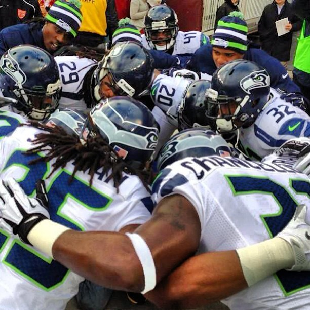 #seahawks take the field pumped for #seavswas - let's hear you #12thman! #gohawks