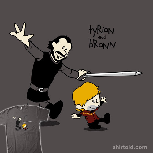 shirtoid:  Game of Buddies by spacemonkeydr is $12/$14 for a limited time at Qwertee
