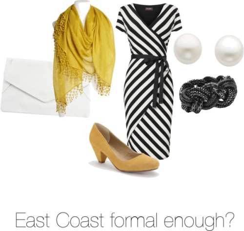 Formal enough? by apps featuring a cashmere wrap shawlPhase Eight v neck dress, $120 / BDG kitten heel shoes / Rut Circle clutch, $18 / Witchery twist jewelry, $50 / Reeds Jewelers  / La Fiorentina cashmere wrap shawl