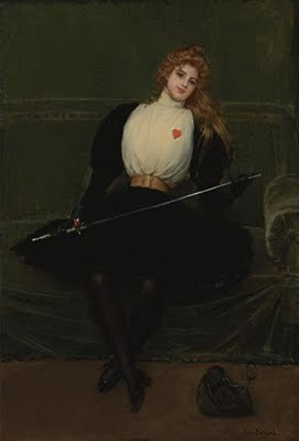"Julie D'Aubigny was a 17th-century bisexual French opera singer and fencing master who killed or wounded at least ten men in life-or-death duels, performed nightly shows on the biggest and most highly-respected opera stage in the world, and once took the Holy Orders just so that she could sneak into a convent and bang a nun. If nothing in that sentence at least marginally interests you, I have no idea why you're visiting this website. One of the most badass human beings ever produced by France was born in 1670 into a life of wealth, privilege, and one-percenter opulence that meant she could have just spent her entire life chilling out Real Housewives style without ever so much as having to shank a single human being in the eye in a hellacious fit of rage, but, as we shall soon see, that sort of malaise really wasn't this chick's bag. Her father was the Grand Squire of France, meaning that he was pretty much the number-one dude responsible for training King Louis XIV's pages and maintaining the Royal Stables, and this guy wasn't really the sort of hard-drinking drill sergeant motherfucker who was going to let his little daughter grow up without learning the finer arts of dishing out knuckle sandwiches to her enemies or running would-be suitors through the small intestines with the pointy end of a rapier. This French R. Lee Ermey trained young Julie the same way he trained the King's Squires, and as a young woman she learned the finer points of necessary life skills such as horseback riding, horse maintenance and repair, drinking excessively, gambling, fistfighting, avenging your honor, and stabbing people in the fucking face when they don't have the good sense to step off when you're threatening them. Growing up surrounded by tough men, this tall young beauty with the dark auburn hair and piercing blue eyes was forged into an instrument of badassitude.  Julie D'Aubigny got started early on her career of banging and/or killing everything in sight when, at the age of sixteen, she started having an affair with her father's boss. The young Mademoiselle D'Aubigny soon proved herself way too hot for that guy to handle, however, so before long he gave her father a promotion, then got her married off to some spineless jackass-non-gratta known only as Monsoir Maupin so that she would leave him alone. Maupin was a Count or Viscount or Demi-Count or some shit, and he lived in one of the colonies across the sea and rarely spent time in France, and since this chick wasn't about to move out to bumfuck nowhere and be a quiet little housewife in some malaria-infested corner of the world she rarely saw him and he doesn't factor into her life story in any appreciable manner at all. The only real thing this guy provided was a title, some money, and a wedding ring, all of which allowed Julie to use her marital status as a way of being able to do promiscuous shit she wouldn't have been able to get away with as an unmarried woman. So, while her husband was off doing god-knows-what in Africa or India or wherever the hell he was, Julie D'Aubigny moved to Marseille and started hooking up with a badass fencing master who just so happened to be on the run for murder after he stabbed some dude to death in an alley outside Paris. The homicidal fugitive swordsman trained D'Aubigny in the finer arts of fencing for a while, but as soon as she realized the student was now the master she ditched his broke ass and started giving sword exhibitions across Marseille to hone her skills and make a little extra dough. Basically it worked like this – she'd pull out her sword, sing a song or two, and challenge anyone in the audience to battle her in a duel. If someone stepped up, she'd sing a humiliating song about them, then make them look like assholes who couldn't tell the difference between a sword and a limp piece of linguine. Her skills were so lights-out gonzo that one time some jerkwad in the crowd called out that she wasn't really a woman, but was some badass cross-dressing cavalier musketeer motherfucker who was ripping everyone off. She responded by ripping open her blouse and telling the audience to ""judge for themselves"".   Oddly enough, kicking peoples' asses for money eventually led to a completely unrelated job prospect – a career as the star attraction of the Paris Opera. Apparently, while this chick was singing songs to humiliate her enemies in the dueling circle, some powerful record execs were in the audience, and they were so impressed by her melodious contralto voice that they decided she should be doing better shit than stabbing people in the balls for spare change. In the span of a few months, the woman known in Marseilles only as ""La Maupin"" (meaning ""The Mapuin"") went from a completely untrained street performer to the lead actress in the world's most respected Opera, playing roles of badass Classical chicks like Pallas Athena, Medea, and Dido. In addition to her flair for the dramatic and innate musical talent, it also helped that La Maupin had a near-photographic memory and rarely needed to read her lines more than once before committing them to memory. Of course, her fiery temperament in love and combat meant that she slept with or swordfought with most of the men and women in the opera at various points during her career. Like, one time some jackass doucheface pretty-boy actor was being overly-aggressive while talking to one of Julie's actress friends, so La Maupin told that asshole to take a chill pill and show the lady some respect. He told her to fuck off and mind her own bitch business. Later that night, as he was walking home, he found La Maupin standing in the street, weapon drawn, challenging him to a duel for honor. When the guy refused to pull his sword, she fucking beat his ass with a wooden cane, stole his pocketwatch, and left his dumb ass in an alley. The next day, the dude came to work with a couple black eyes, and when people were like, ""WTF is up with your face,"" he told them he got jumped by three big black dudes armed with hammers and baseball bats. As soon as he said this, La Maupin pulled out the dude's pocketwatch and called him out a lying liar from Douchebagville. Then, to make matters more humiliating, she then forced the dude to kneel and beg forgiveness in front of all his co-workers before he could get his shit back. La Maupin was also kind of a hardcore bisexual, and some of her tales of badass awesomeness dueling over female lovers and seducing chambermaids read like they were perpetrated by musketeers or pirates or some other ultra-daring swashbuckling male heroes of eighteenth-century literature. Of course, being a woman, Julie D'Aubigny could pull off some feats of romantic badassitude that most men could only dream of. The most notable example of this was the time that she became a nun just so she could hook up with one of the sisters in the convent. The story goes like this: One time the Mademoiselle D'Aubigny got some super-hot lusty blonde to fall in love with her. When the blonde's parents found out their daughter was a lesbo, they had their ""ravished"" daughter put into a convent, totally unaware that this wasn't going to be nearly enough to deter La Maupin – D'Aubigny took the holy orders, entered the convent as an initiate, created a diversion by setting the fucking convent on fire, and then kidnapped the blonde nun, snuck her out of there, and shacked up with her for like a month. Are you kidding me with this? Of course, this chick was a lover as well as a fighter, and sometimes she was actually both at the same time. Like, one time a trio of drunk assholes were giving Julie shit while she was performing her songs in a rowdy tavern, so the star of the Paris Opera took all three of them out into the grassy courtyard, and when they all jumped her at the same time with their swords she drew her blade and made sure every single one of them was suffering from multiple stab wounds before she went back to the tavern. The next day she felt kind of bad about stabbing the fucking ass out of one of the dudes, so she went to his room to see how he was doing, and then ended up seducing him and getting busy with him relentlessly for like three weeks straight. You know you're a fucking baller chick when you can shank a dude through the abdomen with a rapier and then still get it on with him. I mean, guys are easy, but they ain't that easy.  On another occasion, La Maupin was at a Royal Ball in the palace of King Louis XIV, attending as the guest of Louis' brother, Prince Philippe of France. She showed up to the party dressed as a man in a scarlet tunic and immediately started dancing with all the hot bitches, showing up all the young dudes looking for hot young wives. This was fine and all, but when La Maupin had the audacity to tongue-kiss a particularly fine-looking blonde marquise right in front of the entire Royal family, three jackass noblemen got a little bent out of shape about it and told Maupin she needed to start acting like a lady and stop macking on all the hot babes. La Maupin offered to take it outside, defeated all three men in three consecutive duels, then came back to the party while the trio of poseurs were still lying bleeding in the street like dogs. This event drew a little heat on the Maupin, so while she waited for things to cool down she decided to go to Brussels for a while and have an affair with the German Prince who happened to be the guy in charge of ruling over the Spanish Netherlands (no biggie). Julie D'Aubigny, La Maupin, the most badass swashbuckler of 17th-century France, did eventually settle down a little, returned home to Paris, reunited with her husband, resumed her career as the star attraction of the Paris Opera. She died in 1707 of unknown causes at the age of 37, living fast, dying young, and leaving a good-looking corpse."