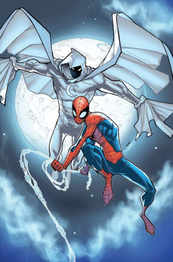 Moon Knight and Spider-Man by Humberto Ramos