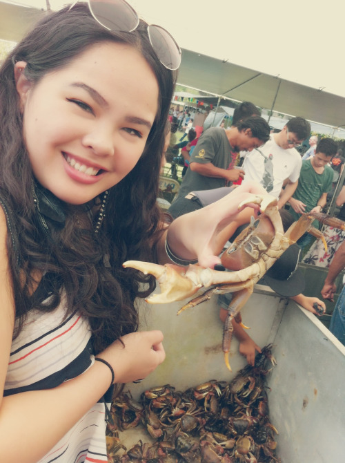 Visited the Crab Festival today! Awesome way to begin spring break :) too bad it was hot and had work afterwards lol.