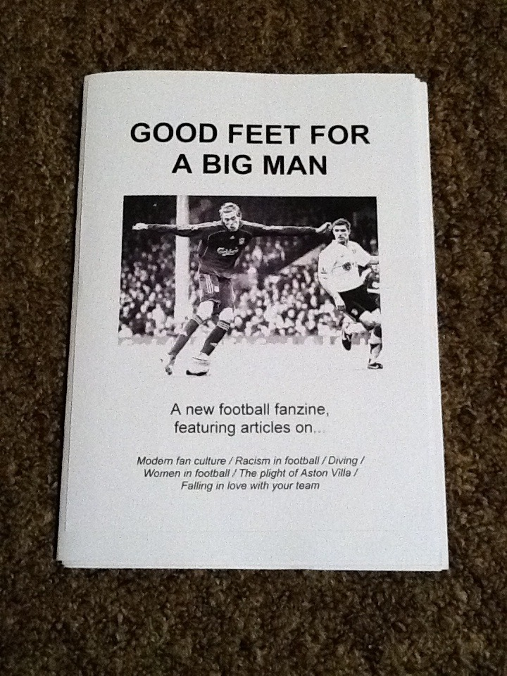 One of the articles I wrote for this blog appears in this brand new football zine!  I am chuffed.  Lots of interesting articles up in here, check it outttt. http://goodfeetforabigmanfanzine.bigcartel.com/product/good-feet-for-a-big-man-issue-1
