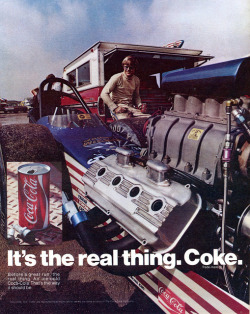 chromjuwelen:  1971 Coca Cola Coke Advertising Hot Rod Magazine March 1971 by SenseiAlan on Flickr. 1971 Coca Cola Coke Advertising Hot Rod Magazine March 1971