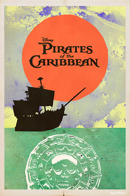 fuckyeahmovieposters:  Pirates of the Caribbean by Sean Hartter