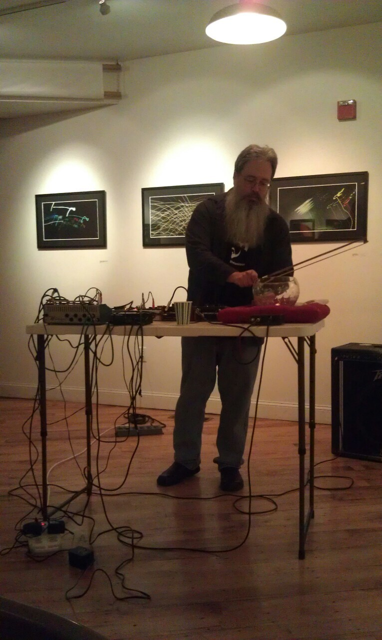 Last night (March 23, 2013) at 119 Gallery. Photo by Kathleen.