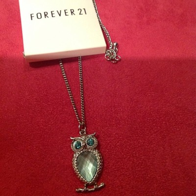 Owl ❤ #owl #forever21 #necklace #jewelry #cute #lovingit #silver