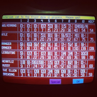 First time ever bowling, and I goddamn beat them!! #bowling #win #ranger #danger.