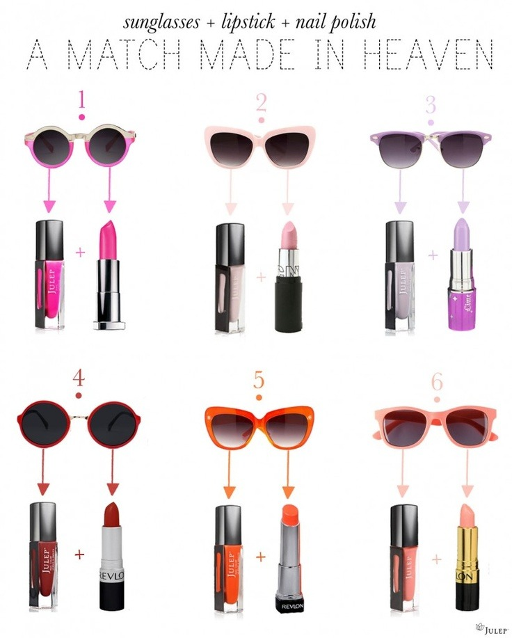 donaldfashion:  Sunglasses + Nails + Lips = A Perfect Match