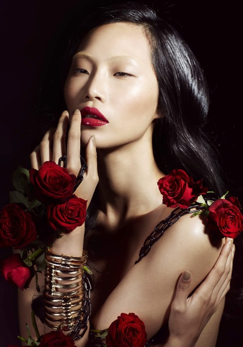 "stormtrooperfashion:  Katerina Chang in ""Garden of Eden"" by Infamous Duo for Blacklog Editorial #40"