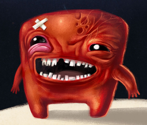 "movealongmachere:  Meat Boy! by Sergio ""Peerro"" Lantadilla DeviantArt  -  Website"