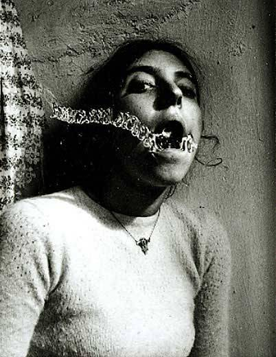 Francesca Woodman. Self Portrait.    Via