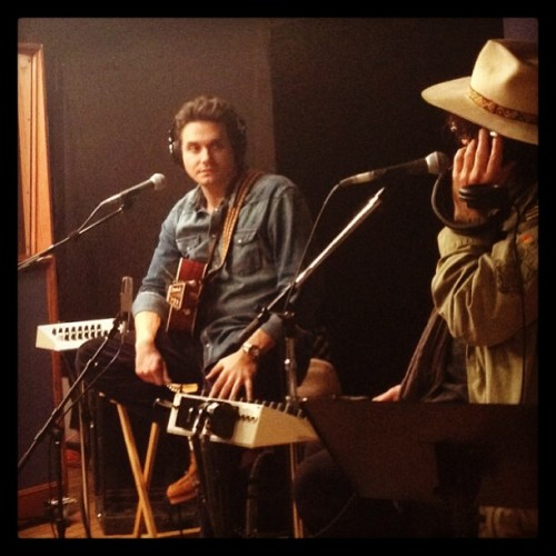 Another shot of John Mayer at our Google+ Hangout. (Photo by Emily Berl)