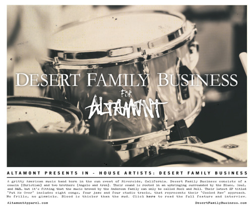 Press release: Desert Family Business for Altamont Apparel Ltd. Read the interview here.