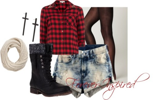 Grunge Spring by forever-inspired featuring h&m