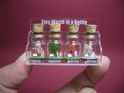 """Tiny Tree with a Couple"" Four Seasons in a Bottle by tinyworldinabottle"