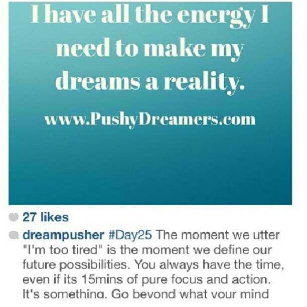 #DreamPusher #Dreams #DreamsDoComeTrue #NoDreamIsTooBIG #100poundrebirth™