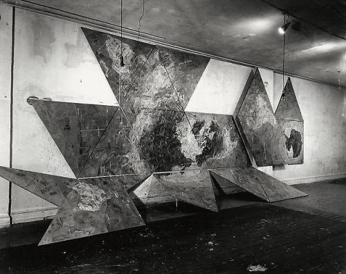 Map (after Buckminster Fuller's dymaxion airocean world) (1967) - Jasper Johns.