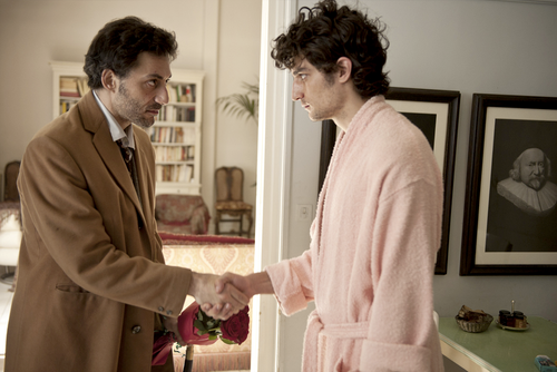 "Filippo Timi and Louis Garrel in ""Un Chateau en Italie"" Directed by Valeria Bruni Tedeschi. In Official Competition. Cannes2013"
