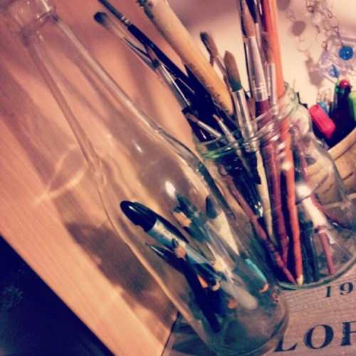 Pencils in a bottle