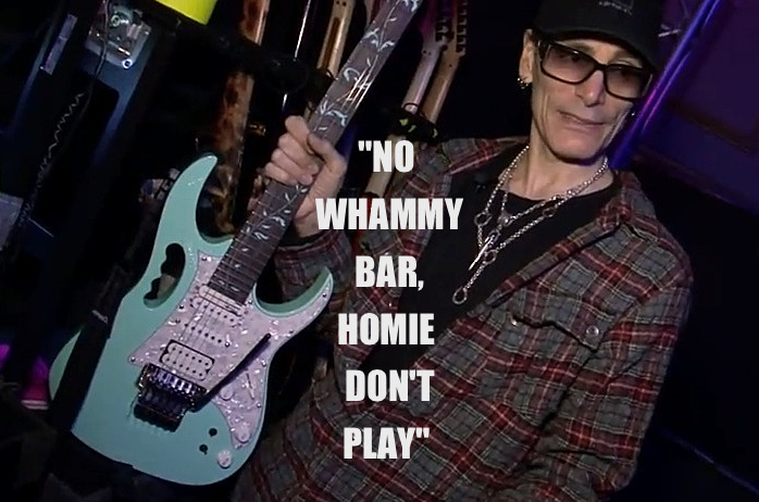 """ No Whammy Bar, Homie Don't Play "" - Steve Vai"