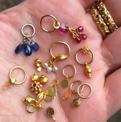 New high karat gold beads and gorgeous dangles just in at New York Adorned!