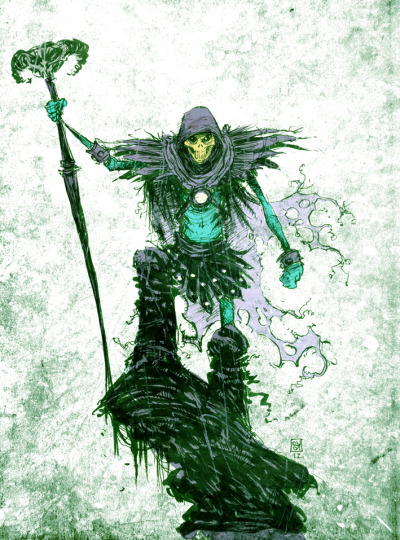 webofdnw:  skeletor art by skottie young