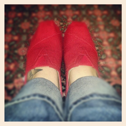So excited about my new TOMS! #cute #red #birthday!  (at Bedford, Texas)