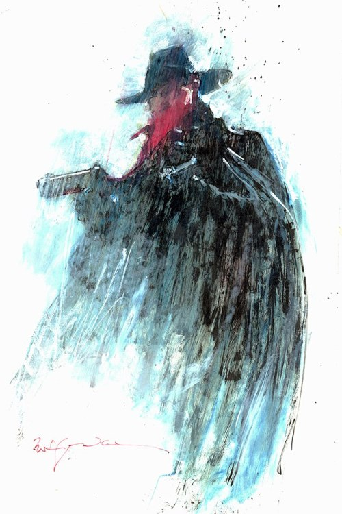browsethestacks:  spaceshiprocket:  The Shadow by Bill Sienkiewicz   .