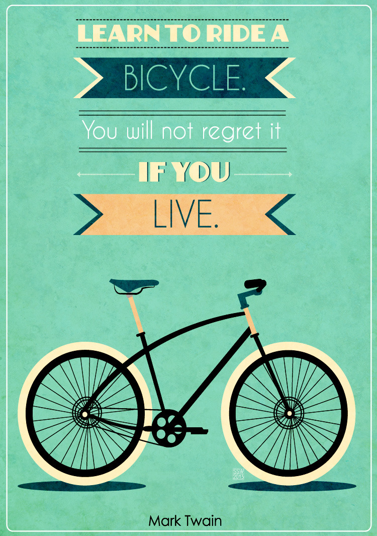 bustedknuckles:  Quotes about Bikes.  Another one.