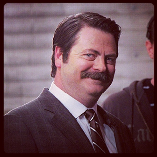 Nick Offerman backstage. #CONAN  (at Warner Bros Stage 15)